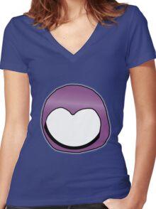 Cartoon Face 3 - Moonbase Girl [Big] Women's Fitted V-Neck T-Shirt