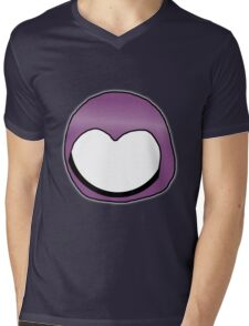Cartoon Face 3 - Moonbase Girl [Big] Mens V-Neck T-Shirt