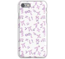 Pink and Purple Mathematics Pattern iPhone Case/Skin