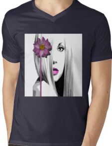 Purple Mens V-Neck T-Shirt