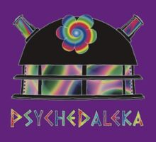 PsycheDaleka Head [Small]- Psychedelic Dalek! T-Shirt