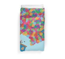 Colors Hot Air Balloons Duvet Cover