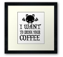 COFFEE HALLOWEEN COSTUMES Framed Print