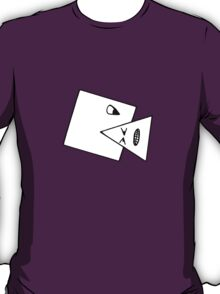 Triangle Muncher T Shirt (white) T-Shirt