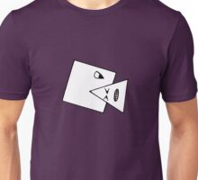 Triangle Muncher T Shirt (white) Unisex T-Shirt