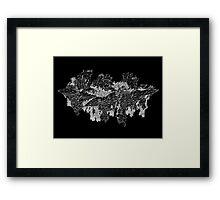 canyon (digital landscapes) Framed Print