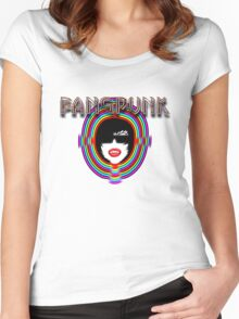Fangpunk Warp Head T Shirt Women's Fitted Scoop T-Shirt