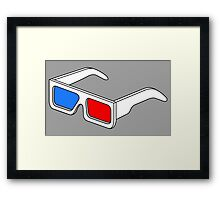 3D Glasses T Shirt BIGGER Framed Print
