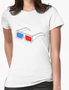 3D Glasses T Shirt BIGGER Womens Fitted T-Shirt