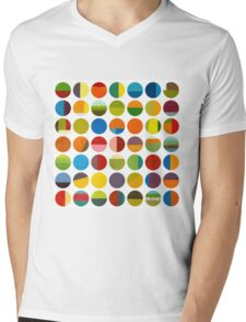 Forty Nine Circles Mens V-Neck T-Shirt