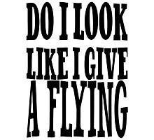 Do I Give a Flying ..... Photographic Print