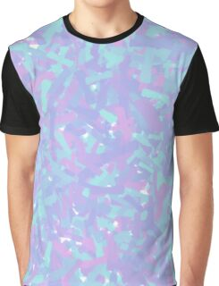Cool Colors (Blue and Red) Abstract Paint Design Graphic T-Shirt