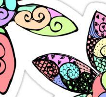 Neon Doodle Blooms Sticker