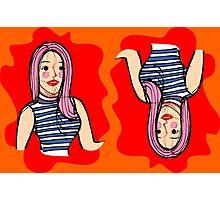Fashion girl portrait illustration Photographic Print