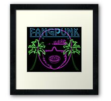 Fangpunk Neon Nights T Shirt Framed Print