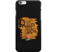 Dr. Martin Luther King, Jr. speaks through wall art iPhone Case/Skin