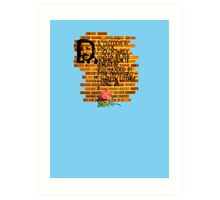 Dr. Martin Luther King, Jr. speaks through wall art Art Print