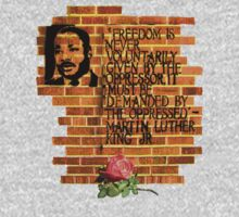 Dr. Martin Luther King, Jr. speaks through wall art Kids Clothes