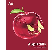 Aa - Appladillo // Half Armadillo, Half Apple Photographic Print