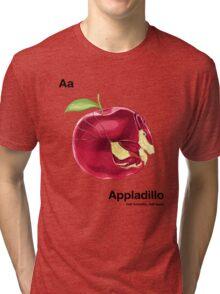 Aa - Appladillo // Half Armadillo, Half Apple Tri-blend T-Shirt