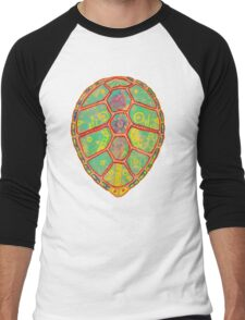 Psychedelic Turtle Men's Baseball ¾ T-Shirt
