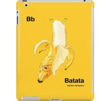 Bb - Batata // Half Bat, Half Banana iPad Case/Skin