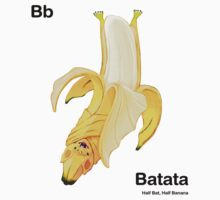 Bb - Batata // Half Bat, Half Banana One Piece - Long Sleeve