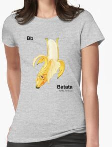 Bb - Batata // Half Bat, Half Banana Womens Fitted T-Shirt