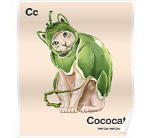 Cc - Cococat // Half Cat, Half Coconut Poster