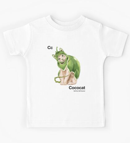Cc - Cococat // Half Cat, Half Coconut Kids Tee