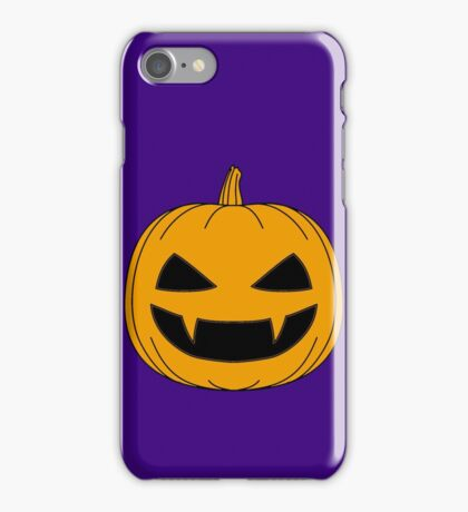 Halloween - Jack o lantern Orange iPhone Case/Skin