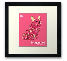 Dd - Dragon Dog // Half Dog, Half Dragon Fruit Framed Print