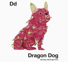 Dd - Dragon Dog // Half Dog, Half Dragon Fruit Kids Tee