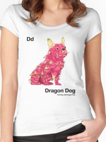 Dd - Dragon Dog // Half Dog, Half Dragon Fruit Women's Fitted Scoop T-Shirt