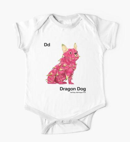 Dd - Dragon Dog // Half Dog, Half Dragon Fruit One Piece - Short Sleeve