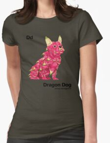 Dd - Dragon Dog // Half Dog, Half Dragon Fruit Womens Fitted T-Shirt