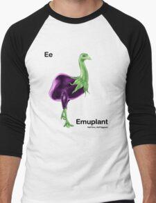 Ee - Emuplant // Half Emu, Half Eggplant Men's Baseball ¾ T-Shirt