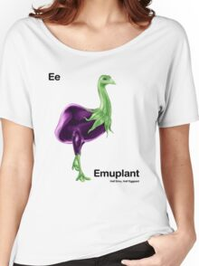 Ee - Emuplant // Half Emu, Half Eggplant Women's Relaxed Fit T-Shirt