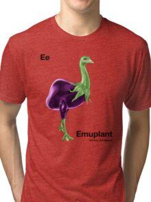 Ee - Emuplant // Half Emu, Half Eggplant Tri-blend T-Shirt