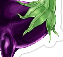 Ee - Emuplant // Half Emu, Half Eggplant Sticker
