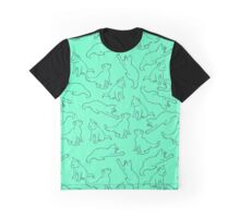 Kitty playing on green Graphic T-Shirt