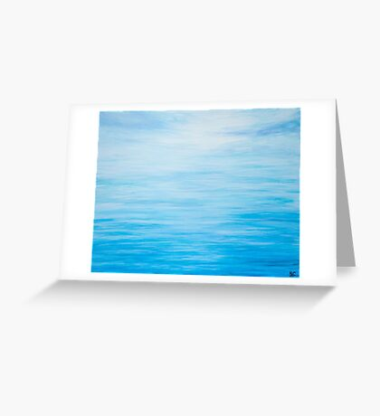 Abstract Seascape in Blue Greeting Card
