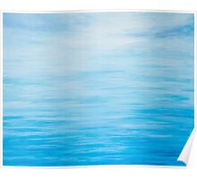 Abstract Seascape in Blue Poster