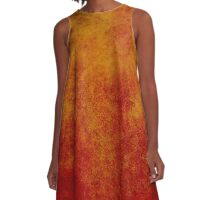 Gold & Red Flower of Life A-Line Dress