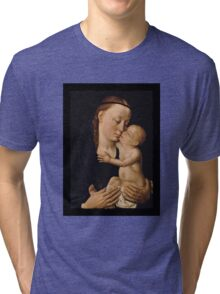 Madonna Mary and Christ Child Tri-blend T-Shirt