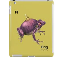 Ff - Frig // Half Frog, Half Fig iPad Case/Skin