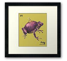 Ff - Frig // Half Frog, Half Fig Framed Print