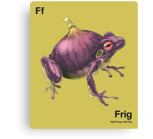 Ff - Frig // Half Frog, Half Fig Canvas Print