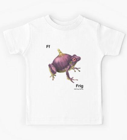 Ff - Frig // Half Frog, Half Fig Kids Tee