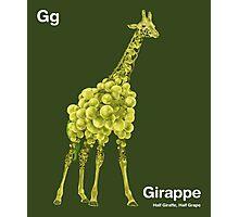 Gg - Girappe // Half Giraffe, Half Grape Photographic Print